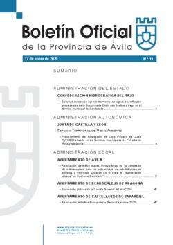 Boletín Oficial de la Provincia del viernes, 17 de enero de 2020