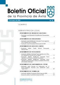 Boletín Oficial de la Provincia del martes, 17 de marzo de 2020