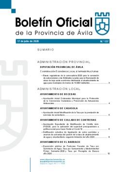 Boletín Oficial de la Provincia del viernes, 17 de julio de 2020