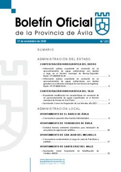 Boletín Oficial de la Provincia del martes, 17 de noviembre de 2020