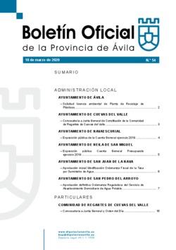 Boletín Oficial de la Provincia del miércoles, 18 de marzo de 2020