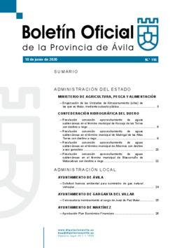 Boletín Oficial de la Provincia del jueves, 18 de junio de 2020