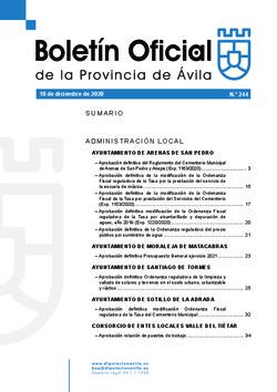 Boletín Oficial de la Provincia del viernes, 18 de diciembre de 2020