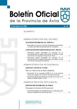 Boletín Oficial de la Provincia del miércoles, 19 de febrero de 2020
