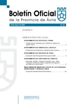 Boletín Oficial de la Provincia del jueves, 19 de marzo de 2020