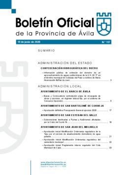Boletín Oficial de la Provincia del viernes, 19 de junio de 2020