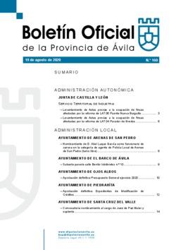 Boletín Oficial de la Provincia del miércoles, 19 de agosto de 2020