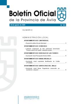 Boletín Oficial de la Provincia del jueves, 20 de agosto de 2020