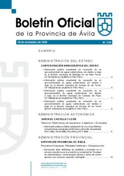Boletín Oficial de la Provincia del viernes, 20 de noviembre de 2020