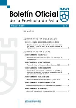 Boletín Oficial de la Provincia del miércoles, 22 de abril de 2020