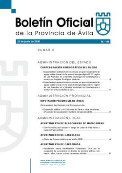 Boletín Oficial de la Provincia del lunes, 22 de junio de 2020