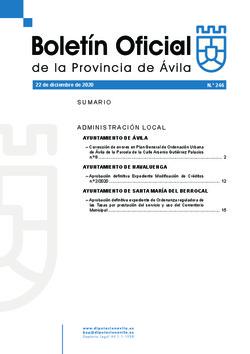 Boletín Oficial de la Provincia del martes, 22 de diciembre de 2020