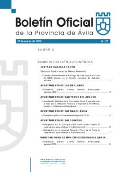 Boletín Oficial de la Provincia del lunes, 23 de marzo de 2020