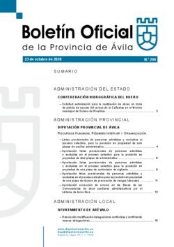 Boletín Oficial de la Provincia del viernes, 23 de octubre de 2020