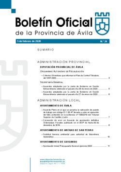 Boletín Oficial de la Provincia del lunes, 24 de febrero de 2020