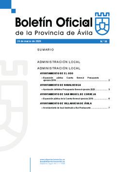 Boletín Oficial de la Provincia del martes, 24 de marzo de 2020