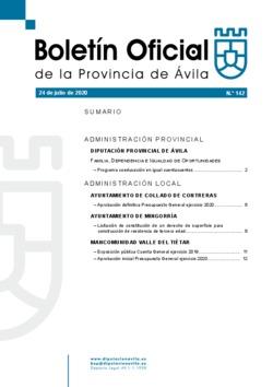 Boletín Oficial de la Provincia del viernes, 24 de julio de 2020
