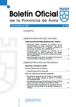 Boletín Oficial de la Provincia del miércoles, 23 de diciembre de 2020