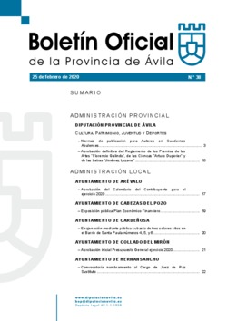 Boletín Oficial de la Provincia del martes, 25 de febrero de 2020