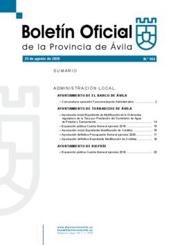 Boletín Oficial de la Provincia del martes, 25 de agosto de 2020