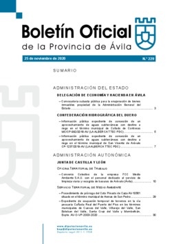 Boletín Oficial de la Provincia del miércoles, 25 de noviembre de 2020