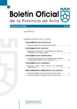 Boletín Oficial de la Provincia del jueves, 26 de marzo de 2020