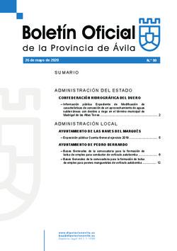Boletín Oficial de la Provincia del martes, 26 de mayo de 2020