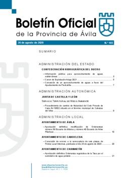 Boletín Oficial de la Provincia del miércoles, 26 de agosto de 2020