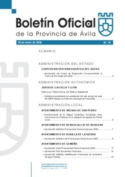 Boletín Oficial de la Provincia del martes, 28 de enero de 2020