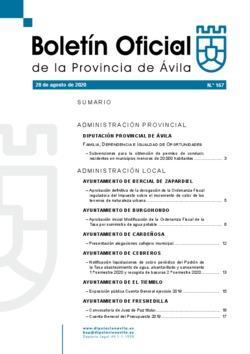 Boletín Oficial de la Provincia del viernes, 28 de agosto de 2020