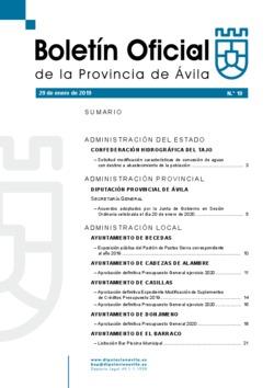 Boletín Oficial de la Provincia del miércoles, 29 de enero de 2020