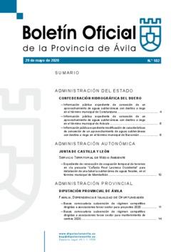 Boletín Oficial de la Provincia del viernes, 29 de mayo de 2020