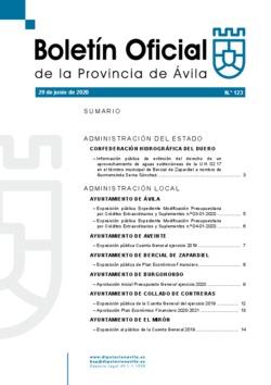 Boletín Oficial de la Provincia del lunes, 29 de junio de 2020