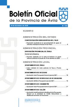 Boletín Oficial de la Provincia del martes, 29 de diciembre de 2020