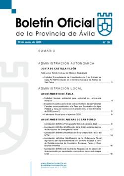 Boletín Oficial de la Provincia del jueves, 30 de enero de 2020