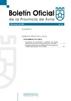 Boletín Oficial de la Provincia del lunes, 30 de marzo de 2020