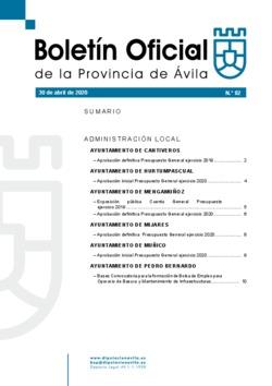 Boletín Oficial de la Provincia del jueves, 30 de abril de 2020