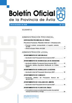 Boletín Oficial de la Provincia del miércoles, 30 de diciembre de 2020