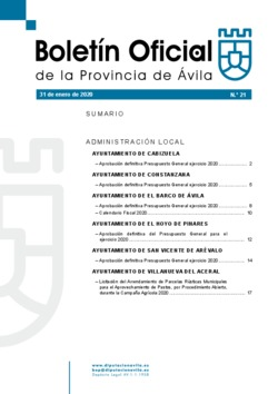 Boletín Oficial de la Provincia del viernes, 31 de enero de 2020