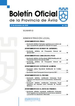 Boletín Oficial de la Provincia del jueves, 31 de diciembre de 2020