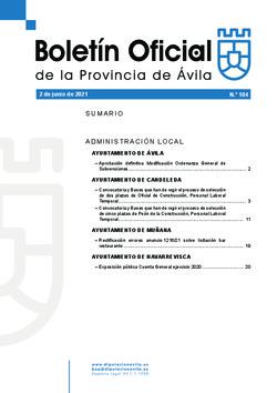 Boletín Oficial de la Provincia del miércoles, 2 de junio de 2021