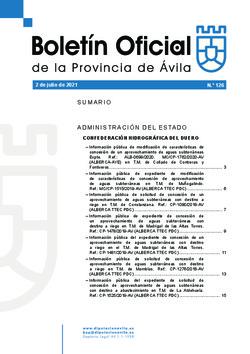 Boletín Oficial de la Provincia del viernes, 2 de julio de 2021