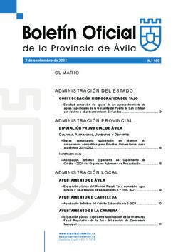 Boletín Oficial de la Provincia del jueves, 2 de septiembre de 2021