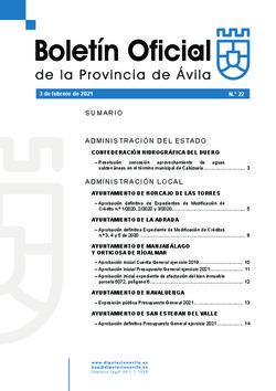 Boletín Oficial de la Provincia del miércoles, 3 de febrero de 2021