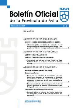 Boletín Oficial de la Provincia del miércoles, 3 de marzo de 2021