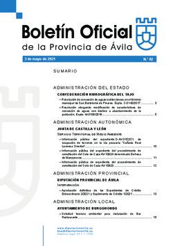 Boletín Oficial de la Provincia del lunes, 3 de mayo de 2021