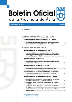 Boletín Oficial de la Provincia del martes, 3 de agosto de 2021