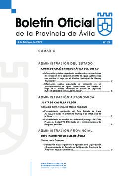 Boletín Oficial de la Provincia del jueves, 4 de febrero de 2021