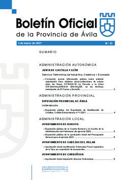 Boletín Oficial de la Provincia del jueves, 4 de marzo de 2021