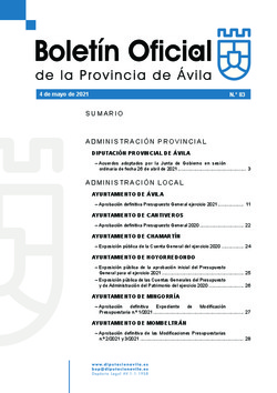 Boletín Oficial de la Provincia del martes, 4 de mayo de 2021